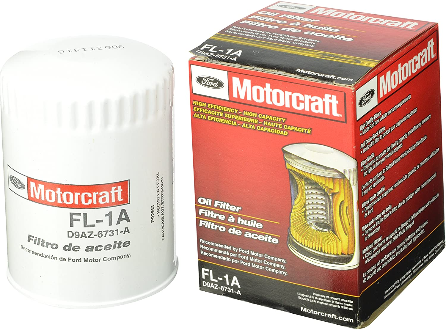 Amazon.com: Motorcraft FL1A filtro de aceite: Automotive