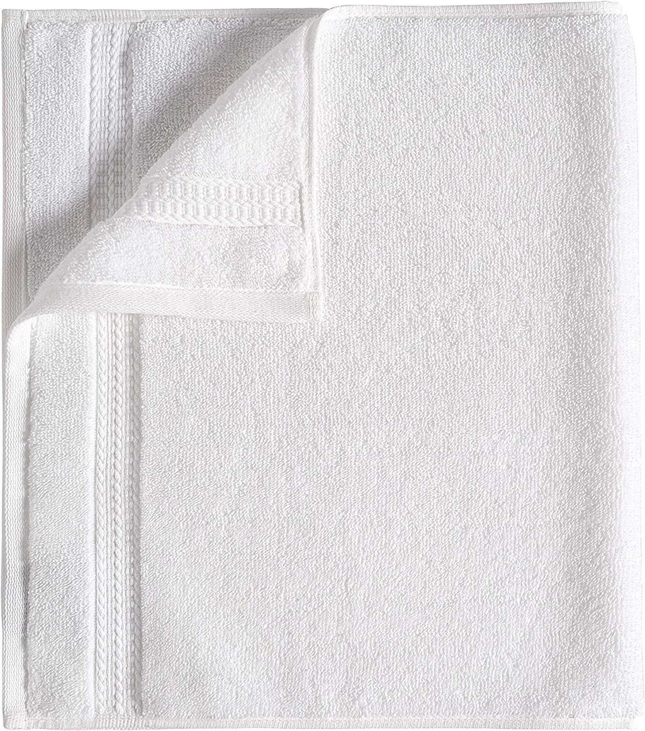 White Pack of 24 13 x 13 inches 580 GSM Haven Cotton 100/% Premium Cotton Washcloth Towel Set