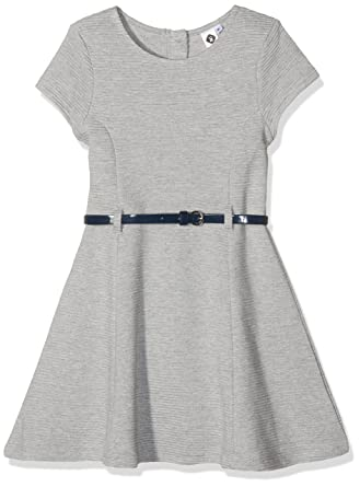 ea08fbe6fd870 Z Robe Tricot Grise Robe Fille Gris (Gris Clair Chiné) 4 Ans (Taille ...