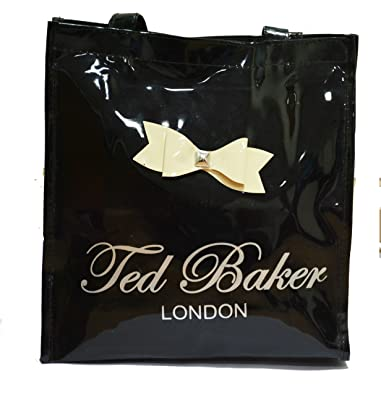 aba927e576 NAVIZONE Ted Baker Women's Canvas Black Glossy Tote Bag: Amazon.in ...