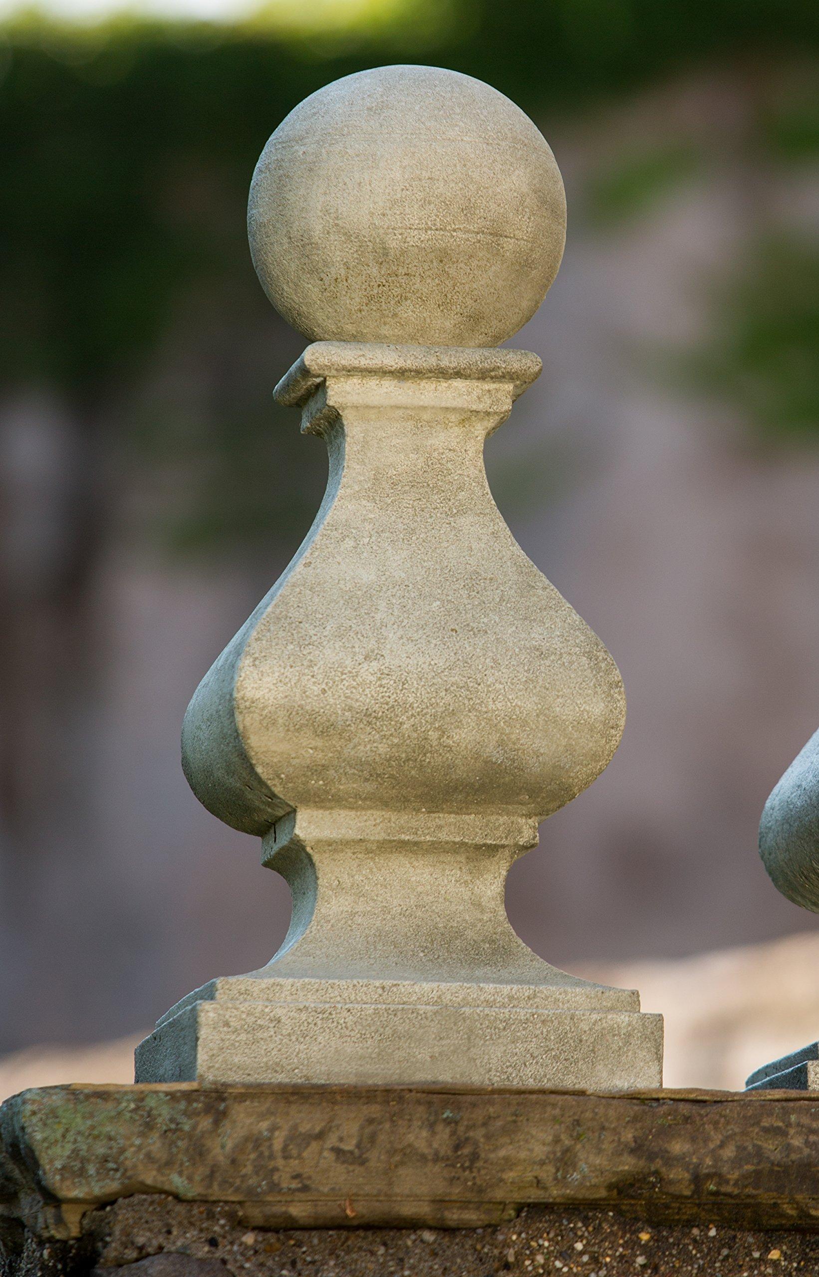 Campania International S-439-GS Rouen Finial Statue, large, Grey Stone Finish