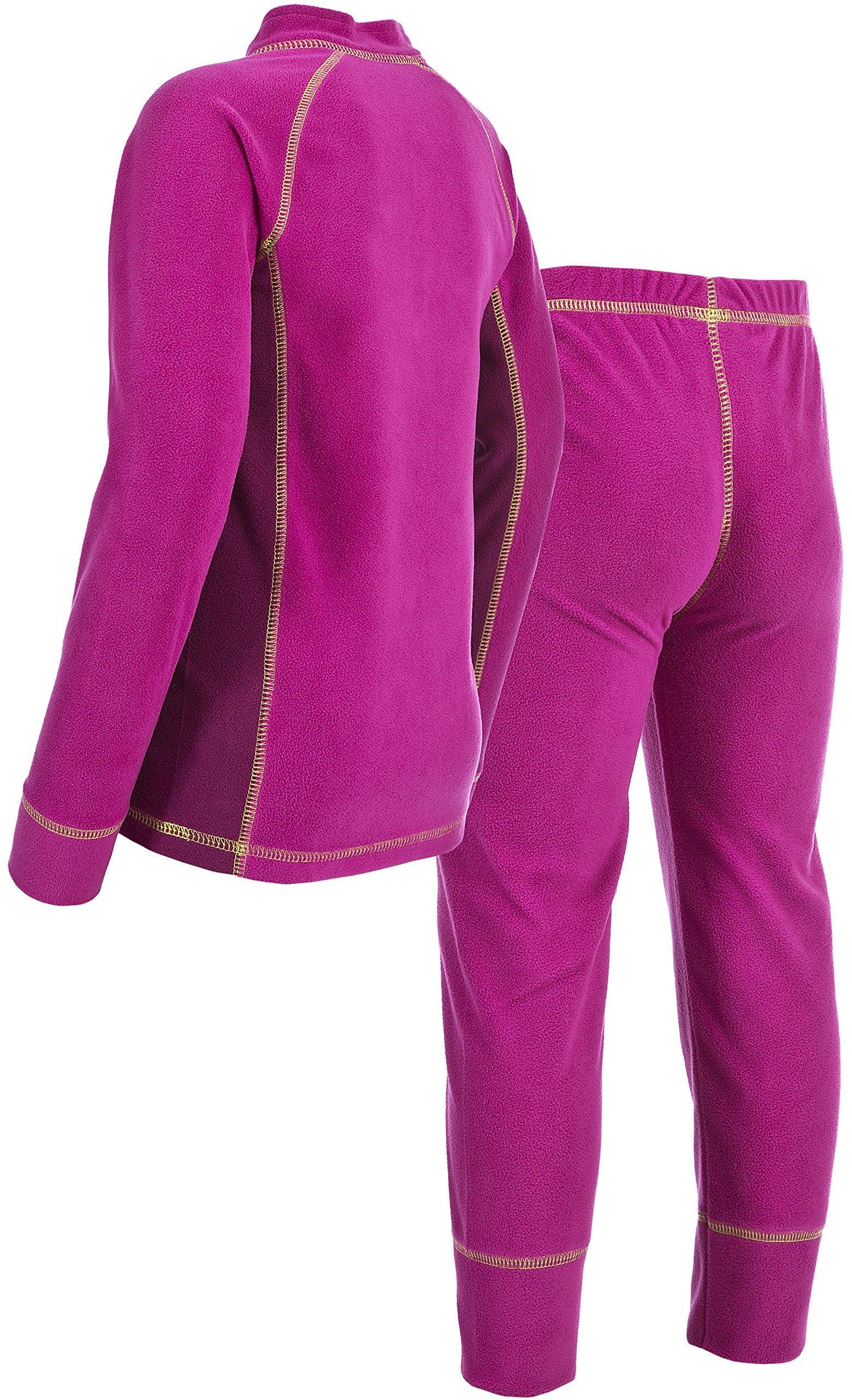 Trespass Kids Bubbles Fleece Base Layer Underwear, Azalea, Size 9/10 by Trespass