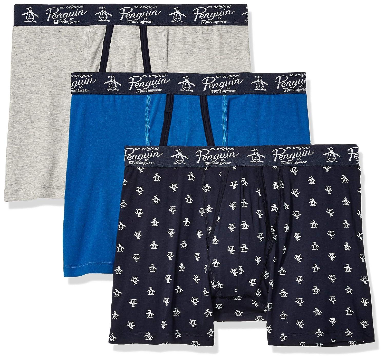 Original Penguin Mens Cotton Stretch Boxer Brief Underwear Multipack