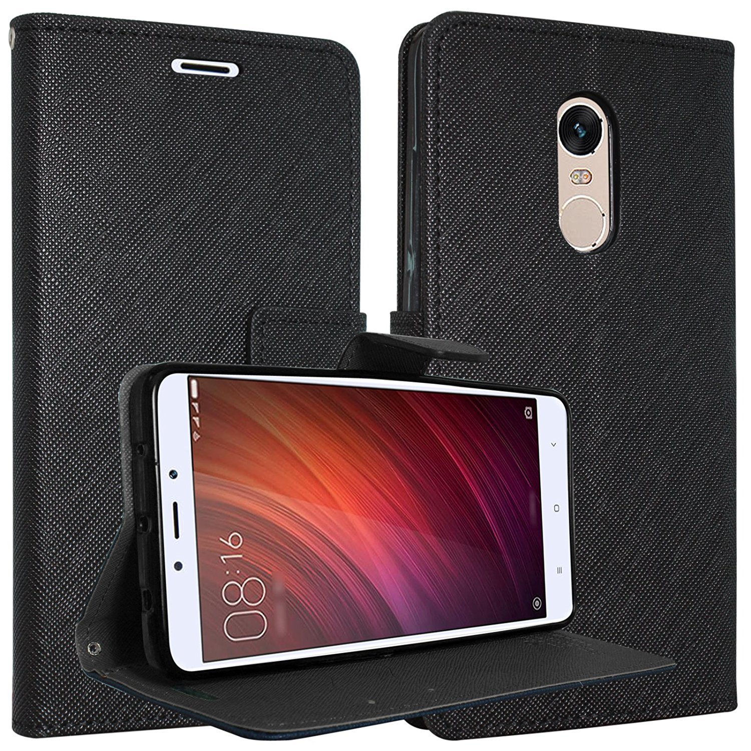 Goospery Flip Cover Redmi Note 4 Brown Electronics Xiaomi 4x Canvas Diary Case Pink