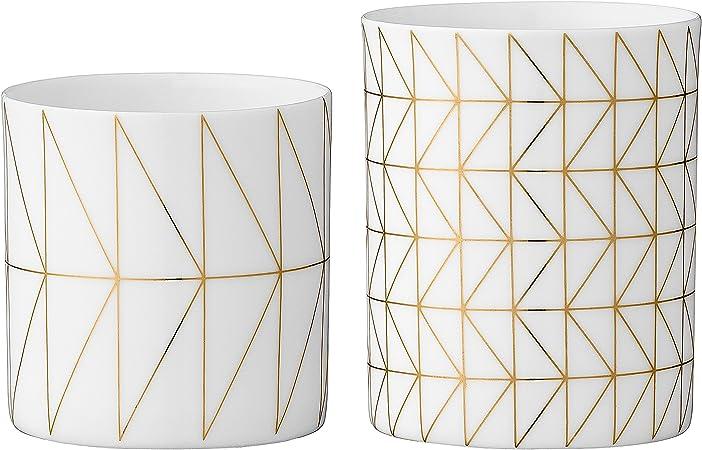 Gold Teelichthalter 2er Set Rosa//Gold Bloomingville