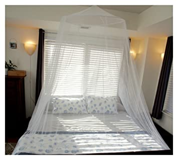 Premium Mosquito Net For King And California King Bed By Tedderfield;  Conical Screen Netting;