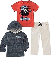 Kids Headquarters Conjunto de Pantalones de bebé para niños de 3 Piezas