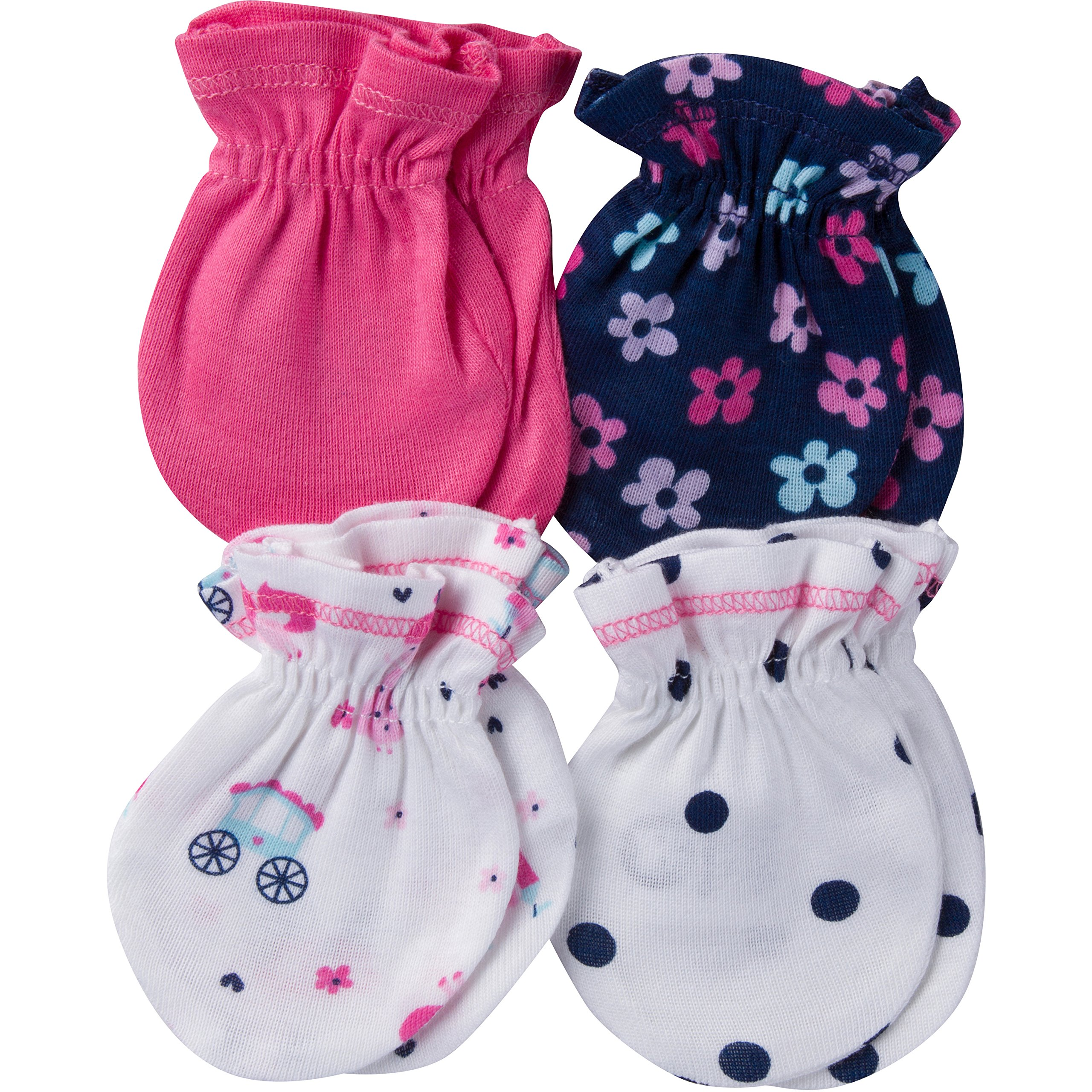 Gerber Baby Girls 4-Pair Mittens
