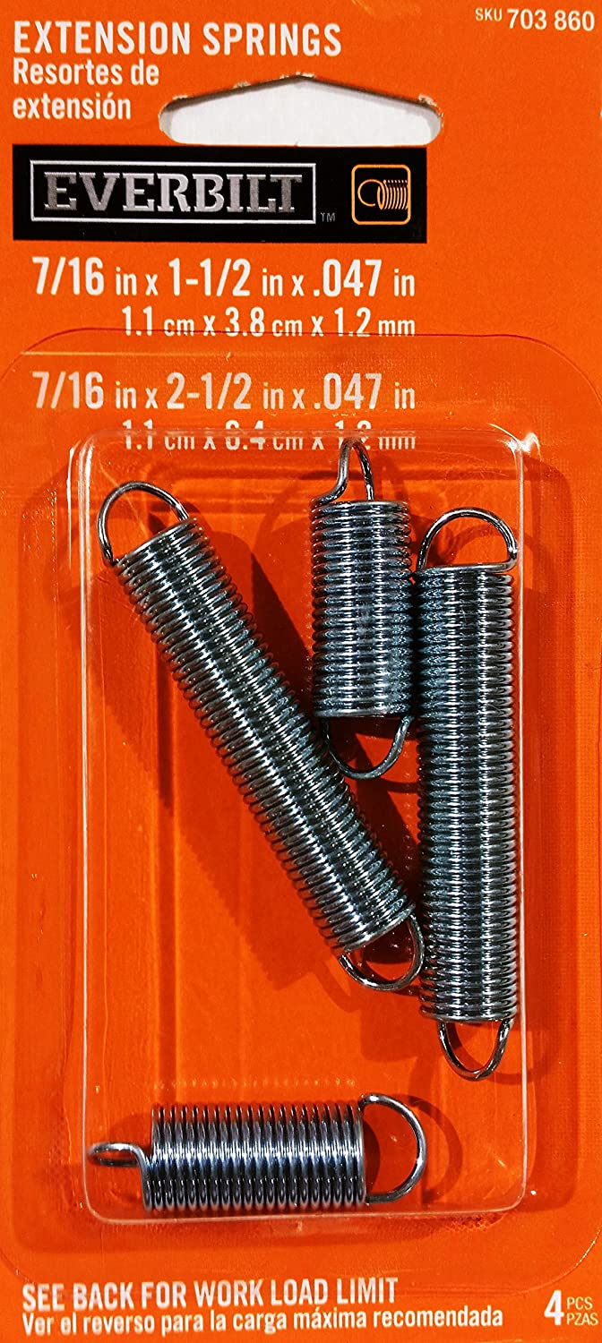 Everbilt Heavy Duty 1-1//4 x 6-1//2 x .162 in Zinc Plated Extension Springs 4