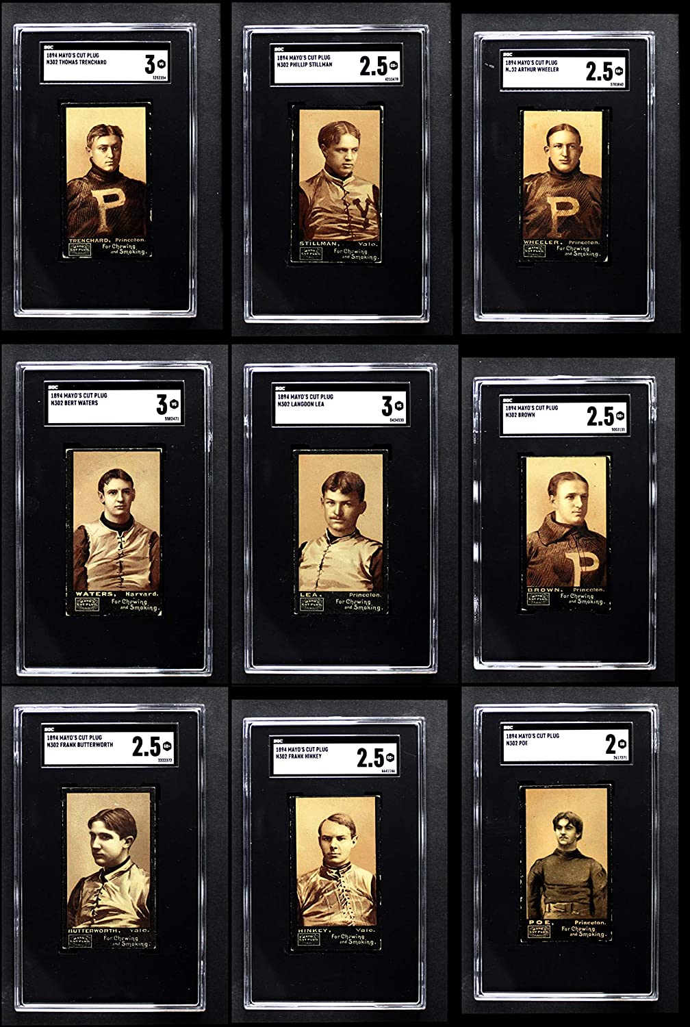 1894 N302 Mayo's Cut Plug Football Partial Complete Set (Football Set) Dean's Cards 2.5 - GD+
