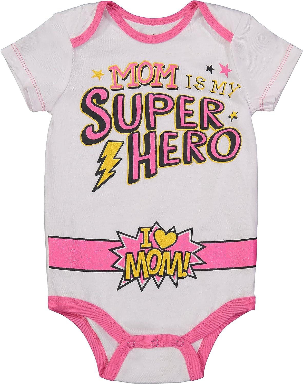 3-6 Meses Body con Capa de Mam/á Superhero/ína para el D/ía de la Madre para Beb/é Ni/ña Blanco//Rosa