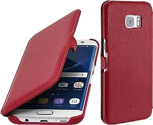 StilGut Book Type, Housse en Cuir pour Samsung Galaxy S7 Edge