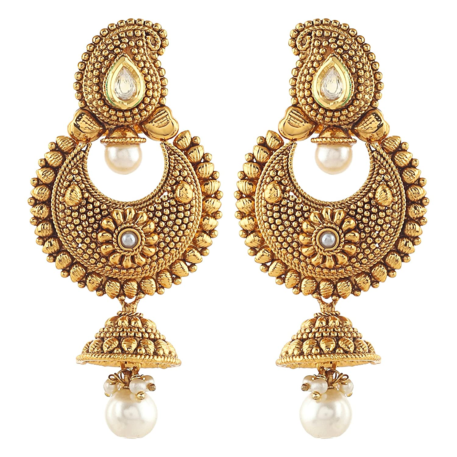 earrings skn copper metal india bali dp daily buy at for wear online prices women jewellery low ear in amazon plated girls jhumki gold