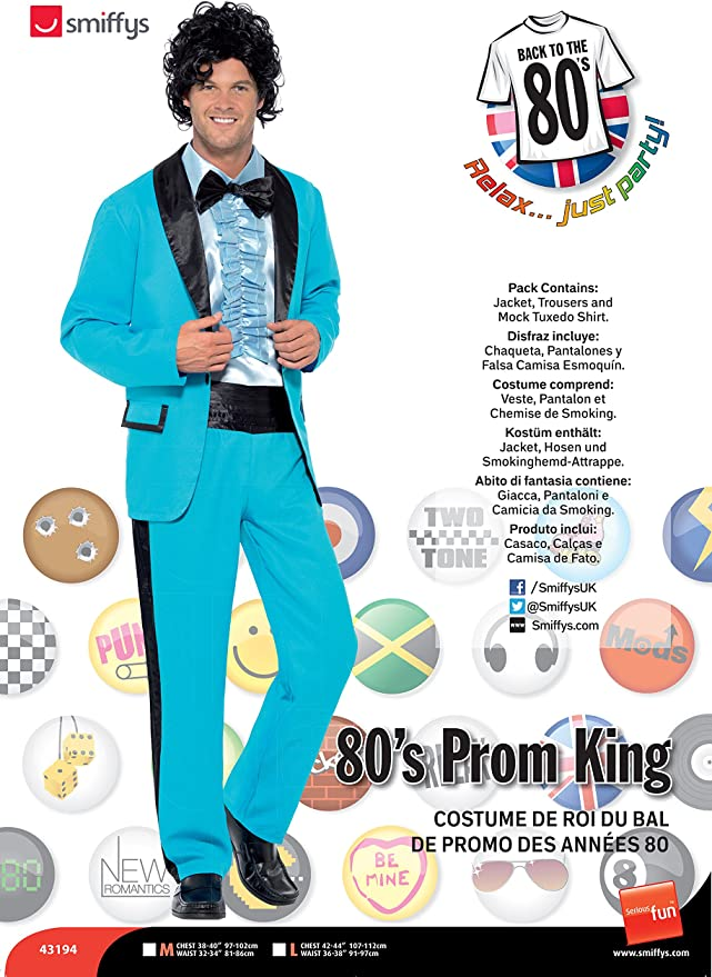 80s Costumes, Outfit Ideas- Girls and Guys Smiffys 80s Prom King Costume £24.88 AT vintagedancer.com