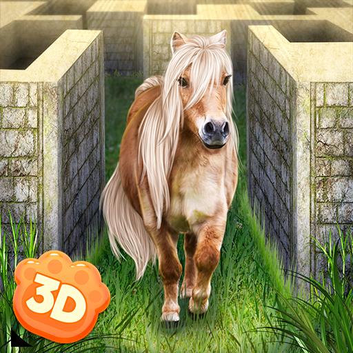 Little Pony Maze Dungeon Simulator: Horse Quest Animal Surviving Game   Labyrinth Maze Running