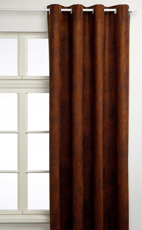 Linder 0522 26 377FR Vorhang Kunstleder Cobra beige chamois Ösen, 145 x 260 cm