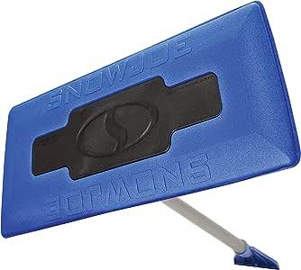 Snow Joe SJBLZD 2-In-1 Telescoping Snow Broom + Ice Scraper | 18-Inch Foam Head (Blue)