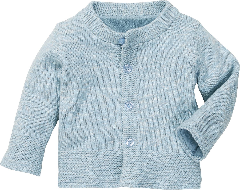 Schnizler Erstlings-Strickjacke leichter Cardigan f/ür Kinder mit Knopf-Verschluss und Rundhals-Ausschnitt aus Baumwolle