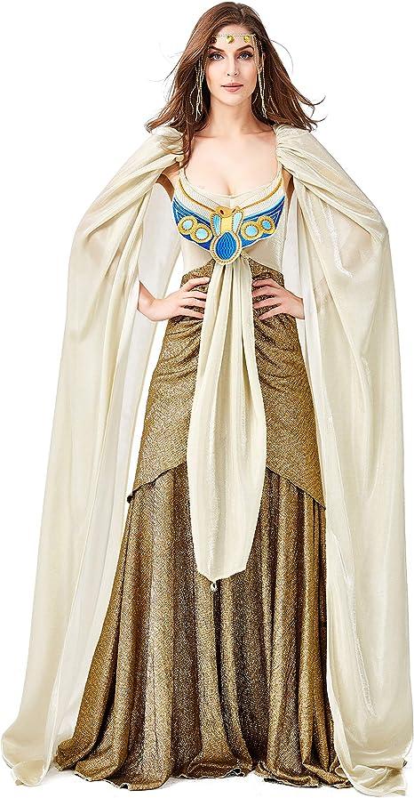 LOLANTA Disfraz de Cleopatra para Mujer Vestido de Reina egipcia ...