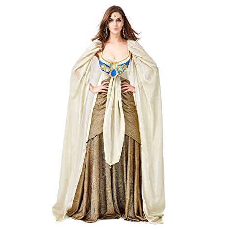 LOLANTA Disfraz de Cleopatra para Mujer Vestido de Reina ...