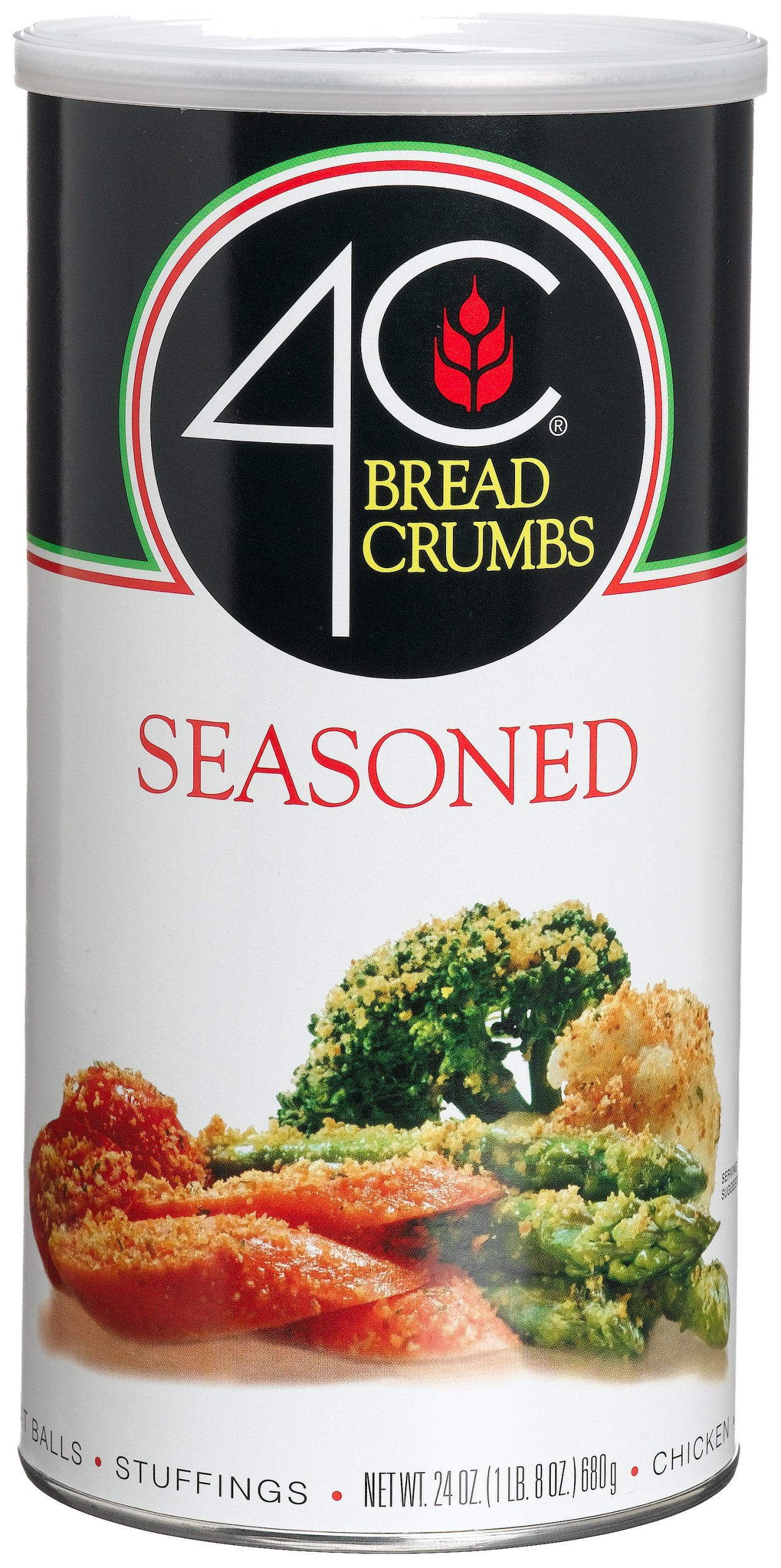 4C Seasoned Bread Crumbs, 24-Ounce Canisters (Pack of 6) by 4C (Image #1)