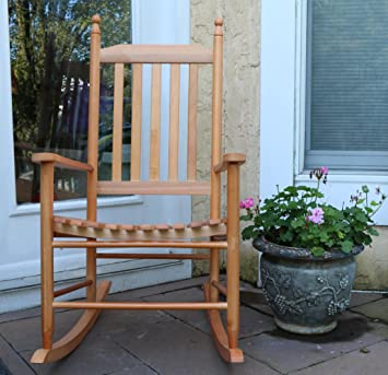 Oliver And Smith   Nashville Collection   Wooden Oak Patio Porch Rocker  Rocking  Chair