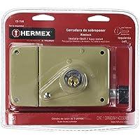 Hermex CS-75IB, Cerradura de sobreponer instala-fácil en blister (izquierda), llave tradicional