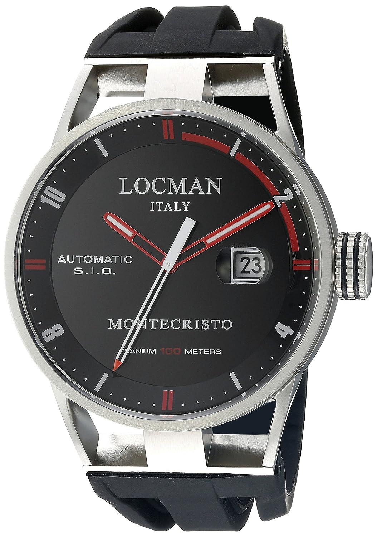 Locman Italien Herren 's 051100bkfrd0gok Montecristo Classic Automatik Analog Display Automatische selbst wind black