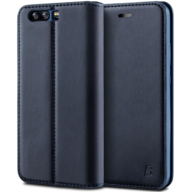 BEZ Funda Huawei P10, Carcasa Compatible para Huawei P10, Libro de Cuero con Tapa y Cartera, Cover Protectora con Ranura para Tarjetas y Billetera, ...