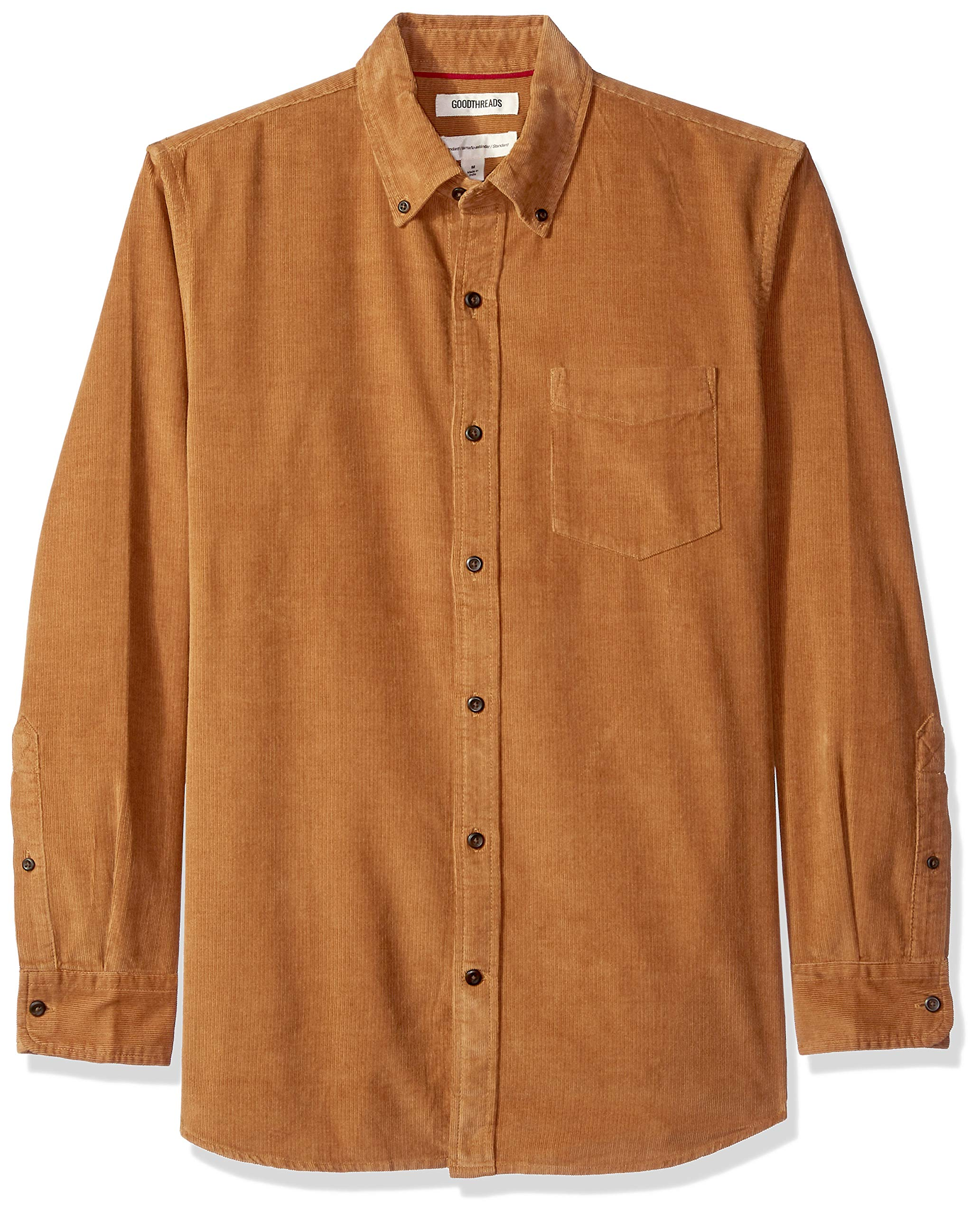 Brand Goodthreads Mens Standard-Fit Long-Sleeve Corduroy Shirt