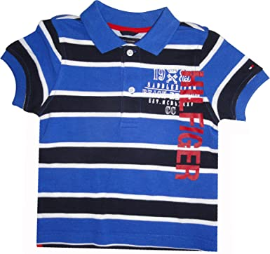 337ef0a96 Amazon.com  Tommy Hilfiger Infant Boys Polo Shirt Blue Striped (12 ...