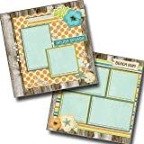 EZ Layout 2115 2 Premade Scrapbook Pages BEACH LIFE