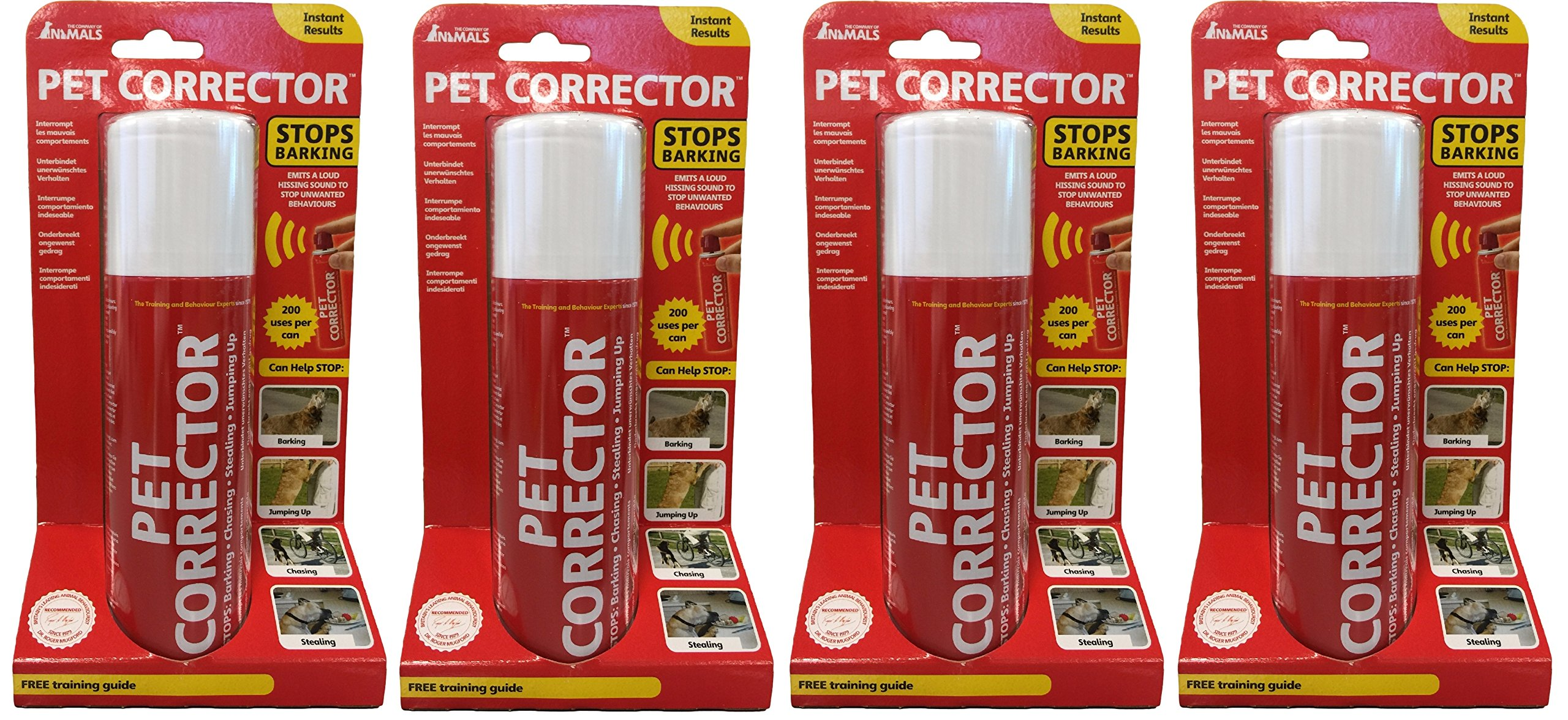 Pet Corrector - The Company of Animals - Bad Behavior and Training Aid - Quickly Stops Barking, Jumping, Digging, Chewing - Harmless and Safe- 200ml, Pack of 4 by The Company of Animals