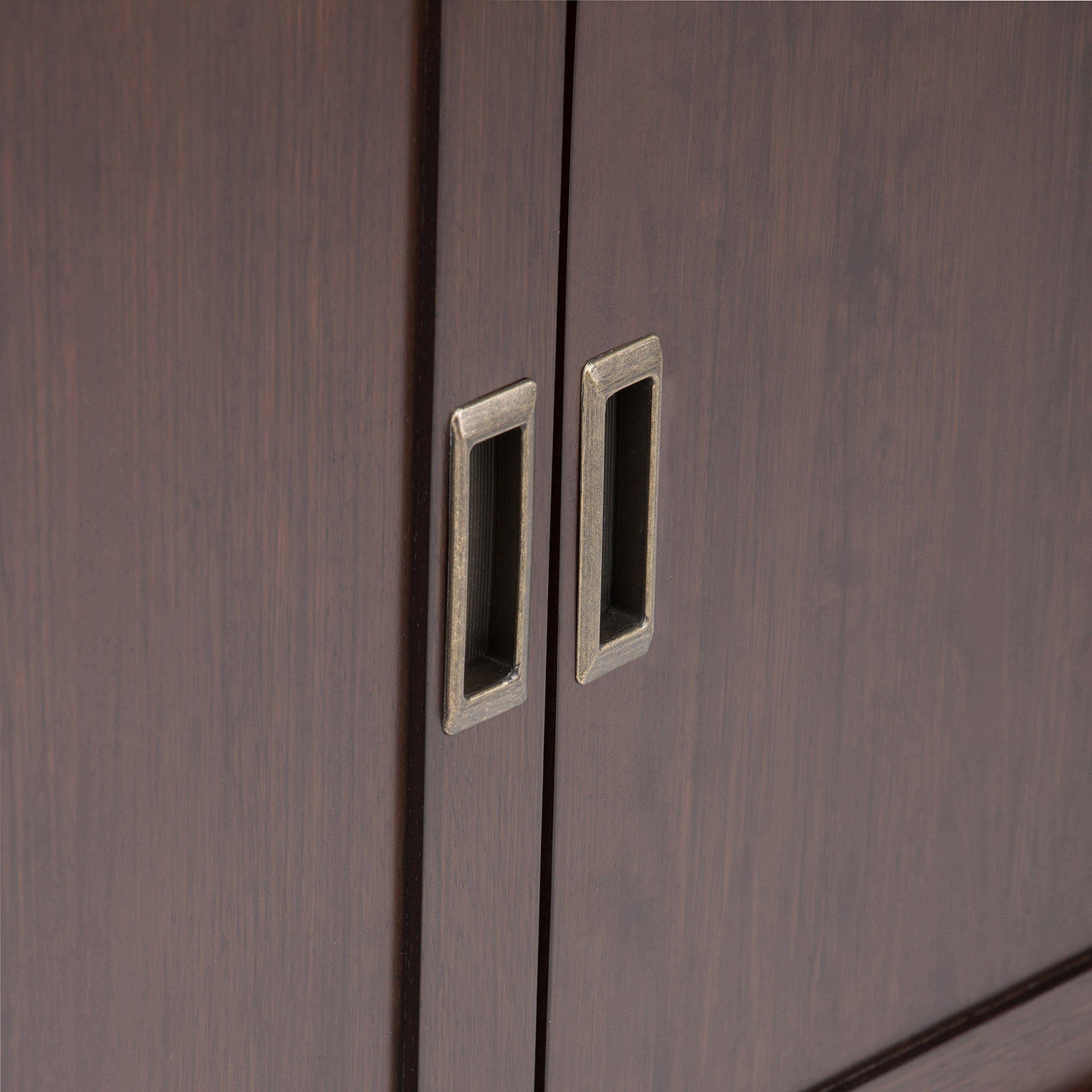 Simpli Home Draper Mid Century Solid Hardwood Storage Cabinet, Medium, Auburn Brown by Simpli Home (Image #4)