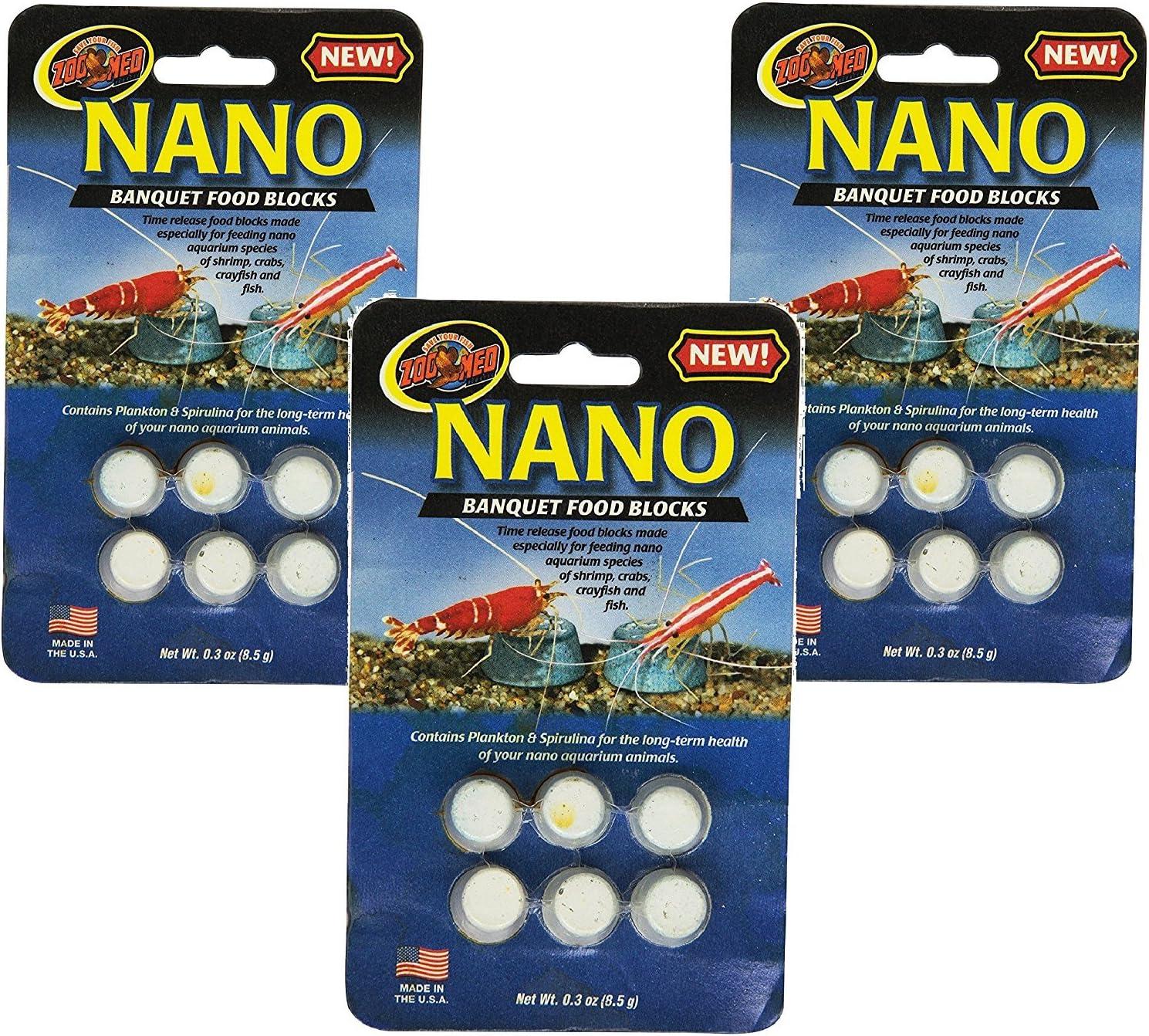 (3 Pack) Zoo Med Laboratories Nano Banquet Block Mini, 0.3 oz Each