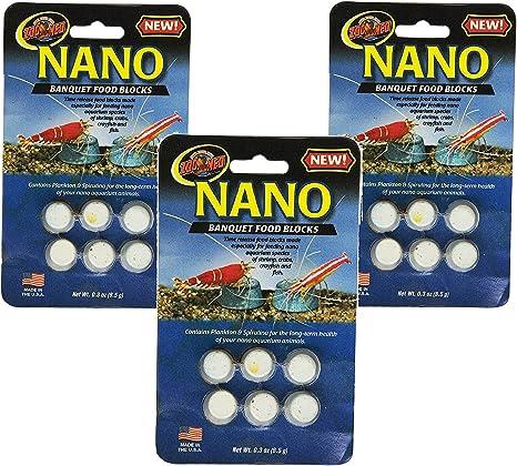 Amazon.com : (3 Pack) Zoo Med Laboratories Nano Banquet Block Mini, 0.3 oz Each : Pet Supplies
