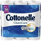 Cottonelle CleanCare Toilet Paper, 18 Double Rolls, Strong Bath Tissue