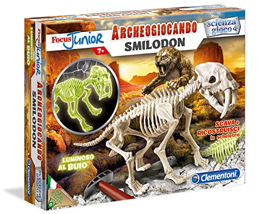 104 opinioni per Clementoni 13185- Focus Smilodon Glow in The Dark