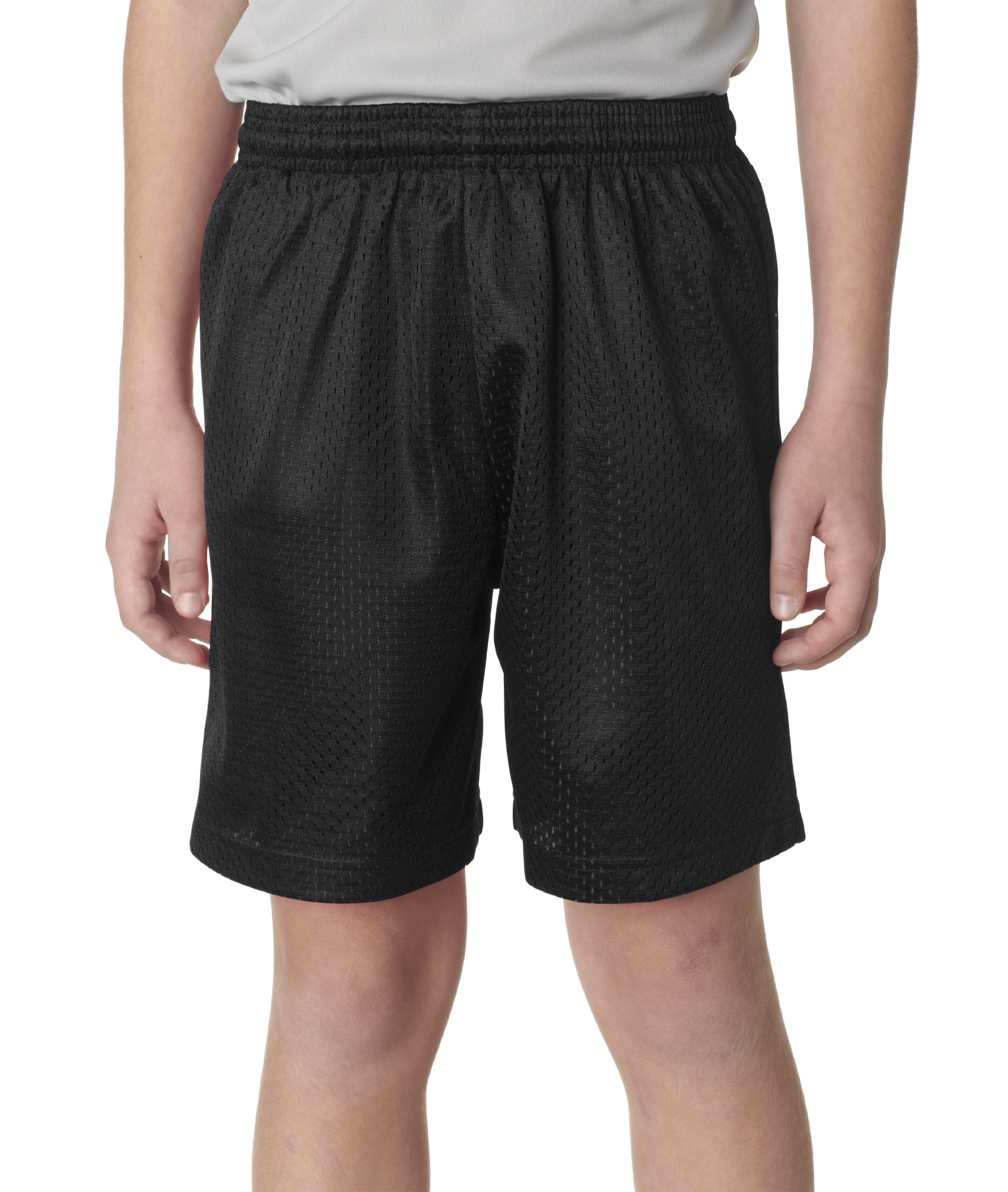 A4 NB5301-BLK Lined Tricot Mesh Shorts, X-Small, Black