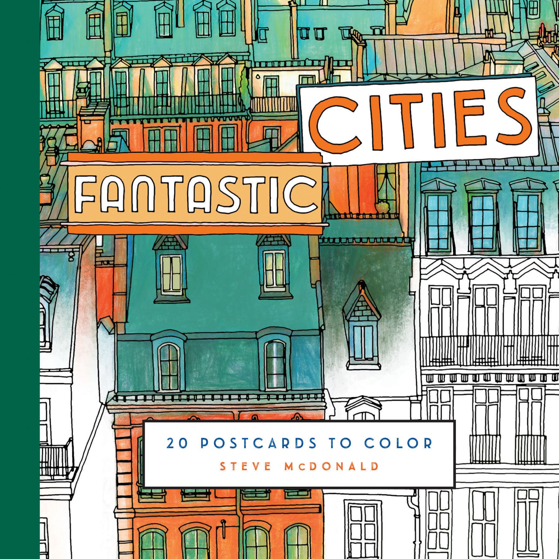76 Colouring Book Fantastic Cities