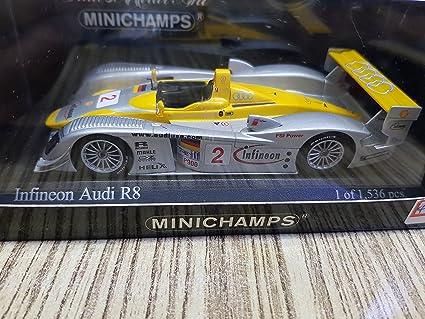 Minichamps 1//43 Audi R8 Infineon N°1 Le Mans 2002