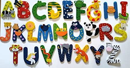 5 letter name   WOODEN ANIMAL ALPHABET STYLE: Amazon.co.uk