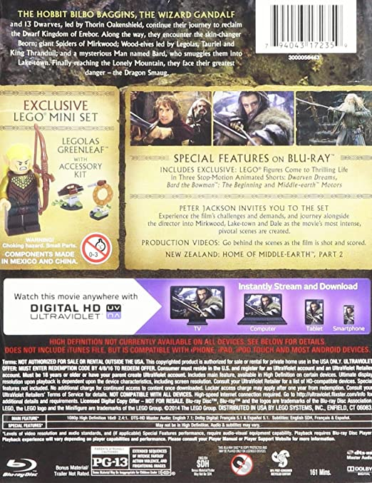 Amazon the hobbit desolation of smaug blu raydvddigital hd amazon the hobbit desolation of smaug blu raydvddigital hd includes exclusive lego 33 pc miniset featuring legolas greenleaf movies tv stopboris Choice Image