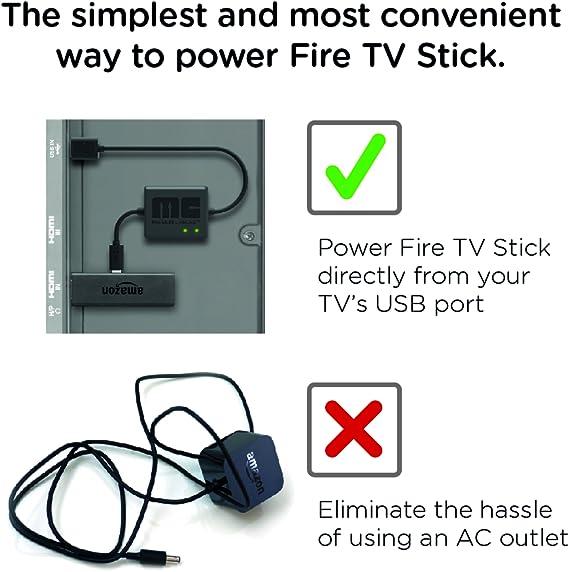 Mission Cables MC9E - Cable USB de alimentación para el Amazon Fire TV Stick, color negro: Amazon.es: Amazon.es