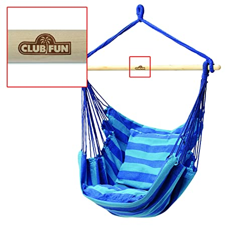 Club Fun Hanging Rope Chair – Blue