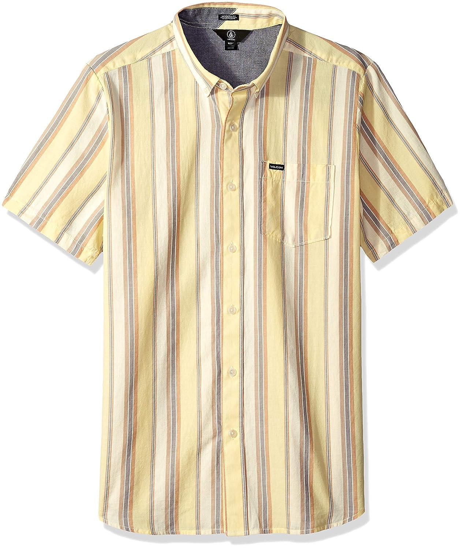 Volcom Hombre A0431803 Manga Corta Camisa de Botones - Amarillo ...