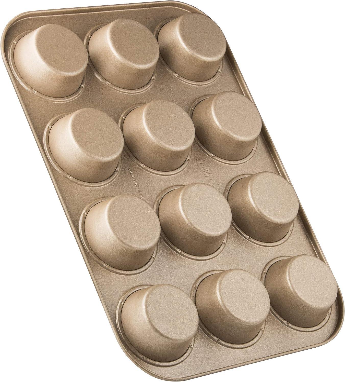Farbe: Mahagoni//Gold Menge: 1 St/ück Backblech mit keramisch verst/ärkter Antihaftbeschichtung Zenker 12er-Muffinform /Ø 7 cm MOJAVE GOLD Muffinbackform aus Stahlblech