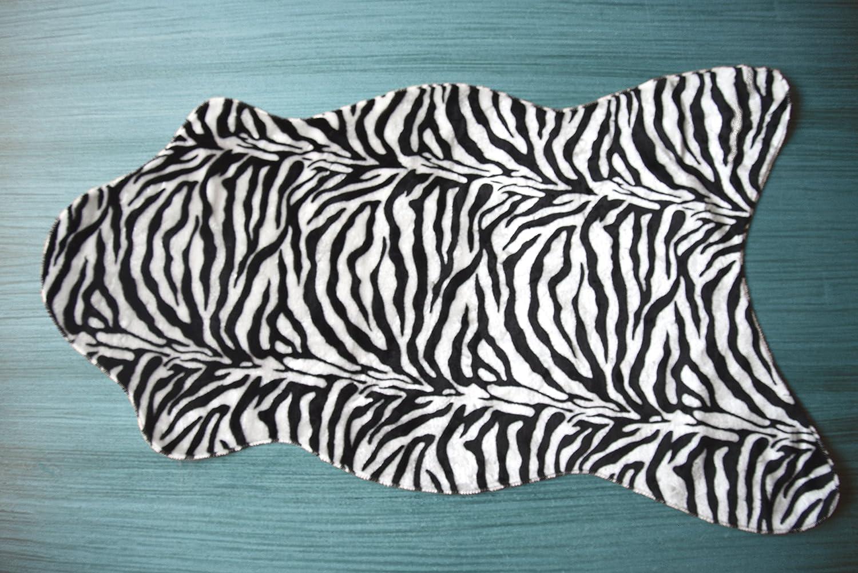 Fabelia flau schi Alfombra ameiny de Pelo de Animal Animales Salvajes 75 cm x 125 cm Tierform Cebra poli/éster