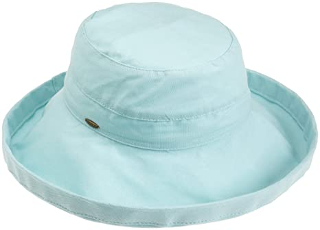 6bcd688ee Scala Women's Cotton Hat with Inner Drawstring and Upf 50+ Rating