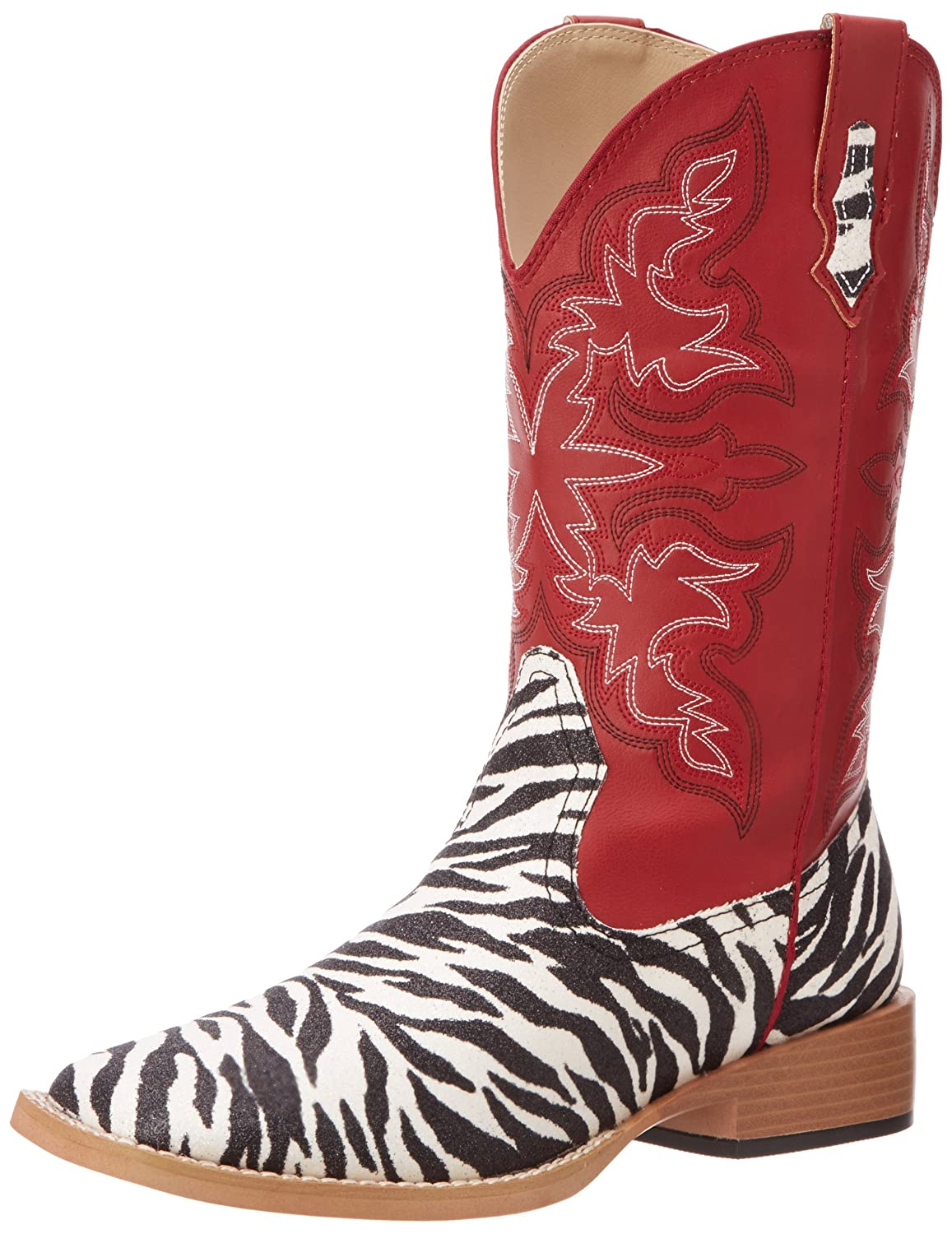 8b4c074ad78 Roper Women's Zebra Glitter Riding Boot